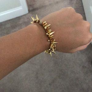 Stella and Dot gold spike bracelet